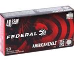 Federal American Eagle 40 S&W Ammo 155 Grain FMJ
