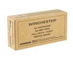 Winchester Service Grade 9mm Luger Ammo 115 Grain Full Metal Jacket Flat Nose