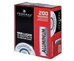 Federal Champion Aluminum 9mm Luger Ammo 115 Grain FMJ Value Pack