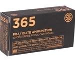 Sig Sauer 365 Elite Performance 9mm Luger Ammo 115 Grain Full Metal Jacket