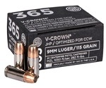 Sig Sauer 365 Elite Performance 9mm Luger Ammo 115 Grain V-Crown Jacketed Hollow Point