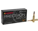 Barnes Precision Match 6mm Creedmoor Ammo 112 Grain OTM Boat Tail Projectil