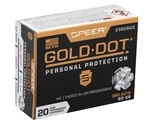 Speer Gold Dot 380 ACP AUTO Ammo 90 Grain Hollow Point