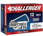 "Challenger SUPER SHORTSHELL 12 Gauge Ammo 1-3/4"" 5/8oz. #7 1/2 Shot"
