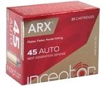 Polycase Inceptor 45 ACP AUTO Ammo 118 Grain ARX