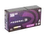 Federal Premium 9mm Luger Ammo 147 Grain Syntech Training Match TSJ