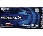Federal 224 Valkyrie Ammo 60 Grain Hornady V-Max