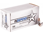 Independence Aluminum 9mm Luger Ammo 115 Grain FMJ Value Pack 100 Rds