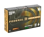 Federal Gold Medal Match 308 Winchester Ammo 168 Gr Sierra MKHP