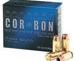 Cor-Bon Self-Defense 10mm AUTO Ammo 165 Grain Jacketed Hollow Point