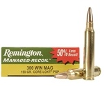 Remington Managed Recoil 300 Win Magnum Ammo 150 Gr Core-Lokt PSP