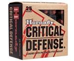 Hornady Critical Defense 357 Magnum Ammo 125 Grain FTX