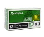 Remington UMC 38 Special Ammo 130 Grain FMJ Mega Pack