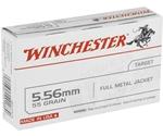 Winchester USA 5.56x45mm NATO Ammo 55 Grain Full Metal Jacket