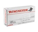 Winchester USA 40 S&W 180 Grain FMJ Q-Loads
