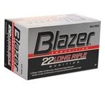 CCI Blazer Rimfire Ammunition 22 Long Rifle 40 Grain Lead Round Nose Box of 50 Rounds