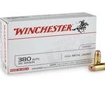 Winchester USA 380 ACP AUTO 95 Grain FMJ