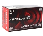 Federal American Eagle 22 Long Rifle Ammo 38 Grain Plated Lead Hollow Point 400 Rounds