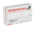 Winchester USA 7.62x51mm NATO 147 Grain FMJ
