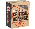 Hornady Critical Defense 40 S&W Ammo 165 Grain FTX