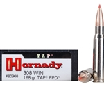 Hornady TAP-FPD 308 Winchester Ammo 168 Grain Polymer Tip