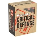 Hornady Critical Defense 45 ACP AUTO Ammo 185 Grain FTX