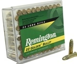 Remington Golden Bullet 22 Long Rifle Ammo 40 Grain HV PLRN