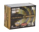 Federal Personal Defense 9mm Ammo 124 Grain Hydra-Shok JHP