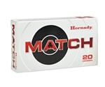 Hornady Match 338 Lapua Magnum Ammo 250 Grain BTHP