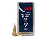 CCI 17 HMR Ammo 16 Grain Speer TNT Green Hollow Point Lead-Free