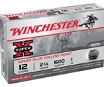 "Winchester Super-X Ammunition 12 Gauge 2-3/4"" 1 oz Rifled Slug Box of 5"