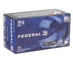 Federal Game-Shok 22 Long Rifle Bird Shot Ammo 25 Grain #12 Shot