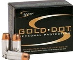 Speer Gold Dot 38 Special Ammo 125 Grain +P Jacketed Hollow Point