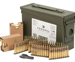 Federal American Eagle 5.56mm NATO Ammo 62 Grain FMJ On Clips