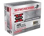 Winchester Super-X 45 ACP AUTO 185 Grain Silvertip Hollow Point