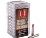 Hornady Critical Defense 22 WMR Ammo 45 Grain FTX