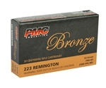 PMC Bronze 223 Remington Ammo 55 Grain FMJ