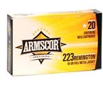 Armscor USA 223 Remington Ammo 55 Grain Full Metal Jacket
