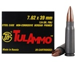 Tula Ammo 7.62x39mm Russian Ammo 124 Grain Full Metal Jacket