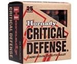 Hornady Critical Defense 9mm Makarov Ammo 95 Gr FTX
