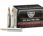 MFS Ammo 223 Remington 55 Grain FMJ Zinc Plated Steel Case
