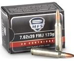 MFS 7.62x39mm Ammo 125 Grain Soft Point