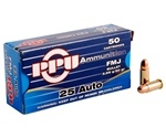Prvi Partizan 25 ACP Auto Ammo 50 Grain Full Metal Jacket