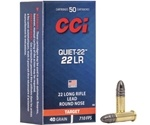 CCI Quiet 22 Long Rifle 40 Grain Solid Lead Round Nose