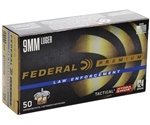 Federal Law Enforcement 9mm Luger Ammo 124 Grain Hydra-Shok JHP