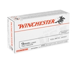 Winchester USA 9mm 124 Grain Full Metal Jacket