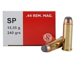 Sellier & Bellot Ammo 44 Remington Magnum 240 Grain Soft Point Ammunition