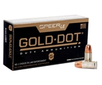 Speer Gold Dot LE Duty 9mm Luger Ammo 147 Grain Jacketed Hollow Point