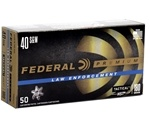 Federal Law Enforcement 40 S&W Ammo 180 Grain HST JHP
