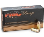PMC Bronze Ammo 45 ACP AUTO Ammo 185 Grain Jacketed Hollow Point